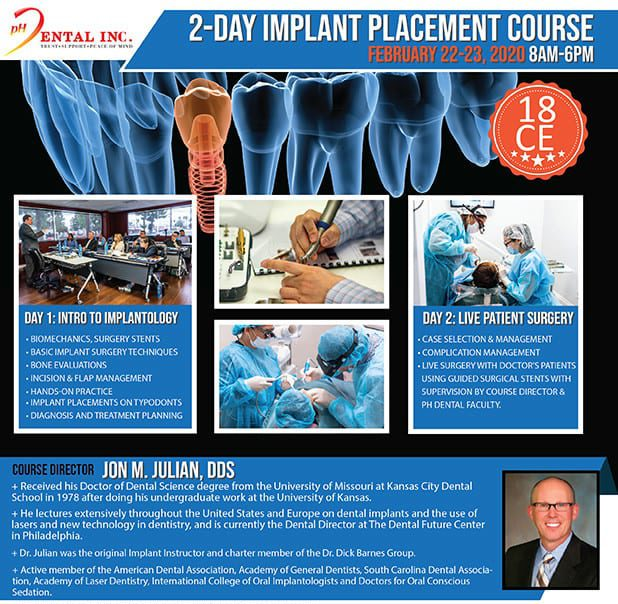 implant training course flyer
