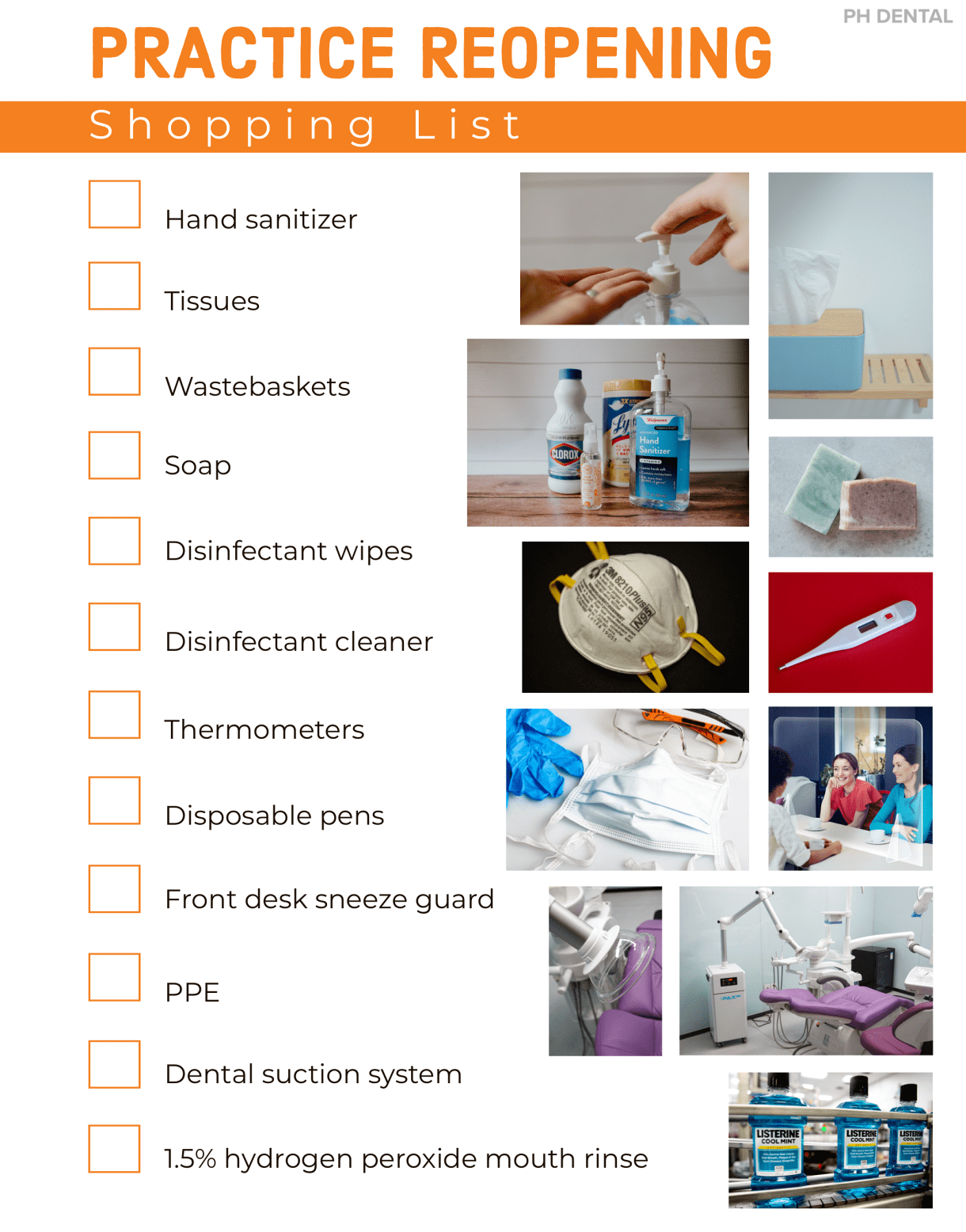dental practice reopening shopping list