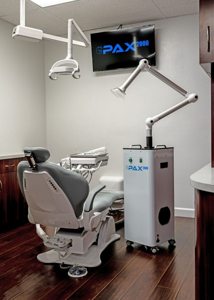 pax2000 extraoral dental suction system in office photo