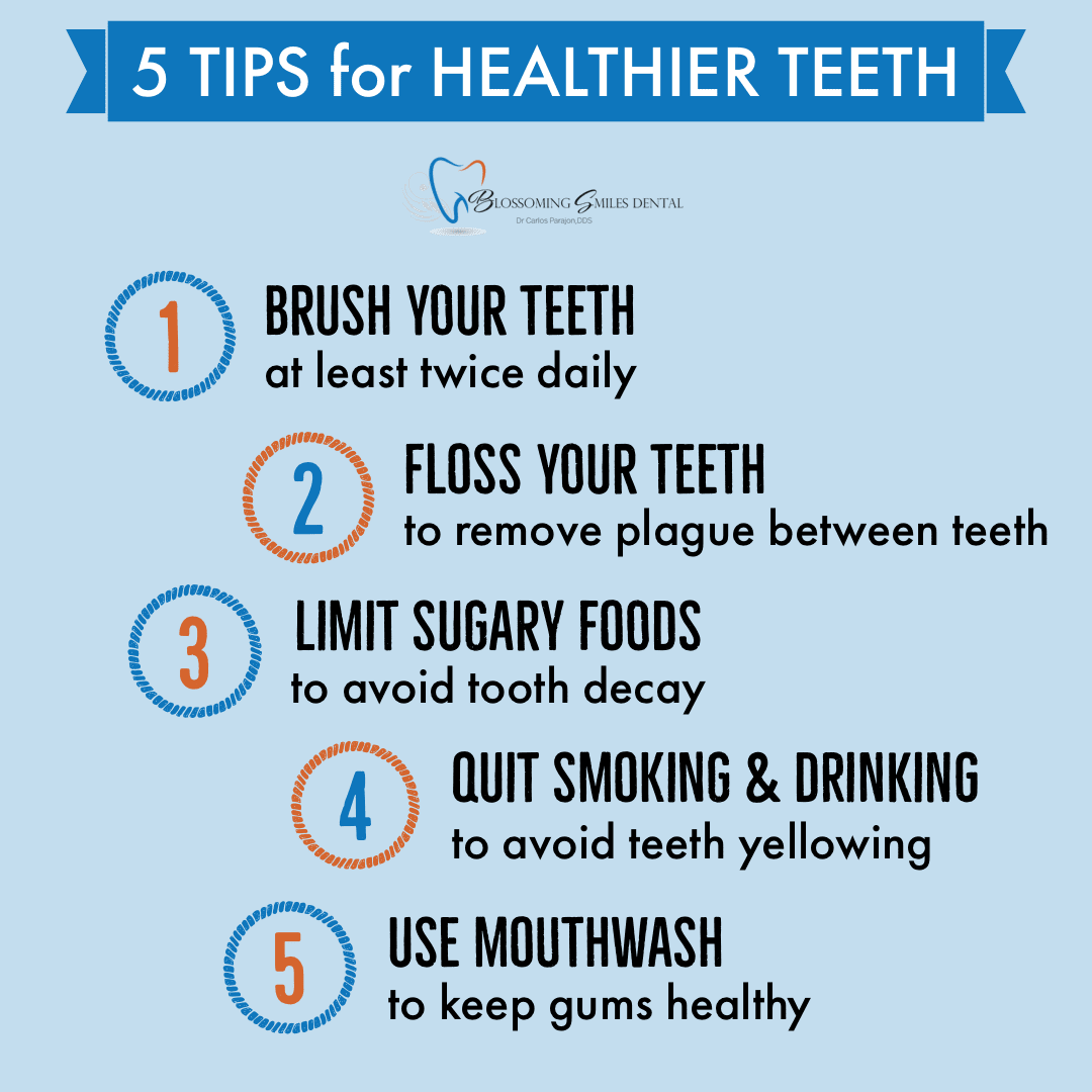 example of dental health tips