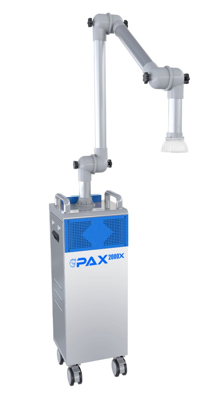 Front view of PAX 2000X extraoral suction system