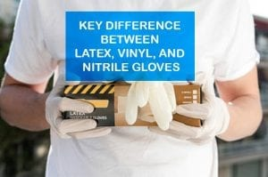 Box of latex gloves in medical setting
